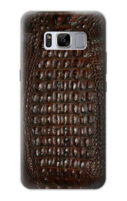 S2850 Brown Skin Alligator Graphic Printed Case For Samsung Galaxy S8