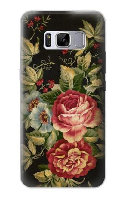 S3013 Vintage Antique Roses Case For Samsung Galaxy S8