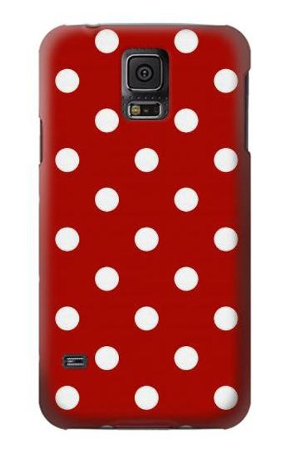 S2951 Red Polka Dots Case For Samsung Galaxy S5 mini
