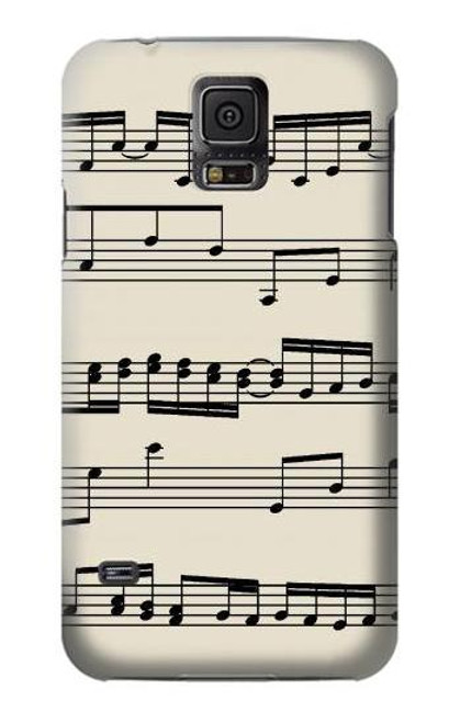 S3082 Music Sheet Case For Samsung Galaxy S5 mini
