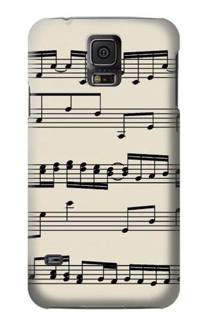 S3082 Music Sheet Case For Samsung Galaxy S5 mini