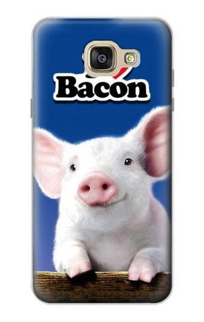 S0608 I Love Bacon Cute Baby Pig Case For Samsung Galaxy A5 (2016)