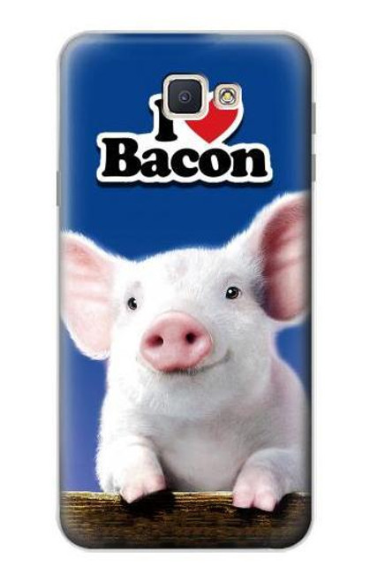 S0608 I Love Bacon Cute Baby Pig Case For Samsung Galaxy J7 Prime