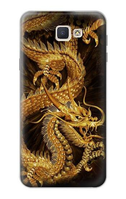 S2804 Chinese Gold Dragon Printed Case For Samsung Galaxy J7 Prime