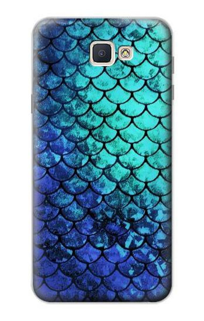 S3047 Green Mermaid Fish Scale Case For Samsung Galaxy J7 Prime