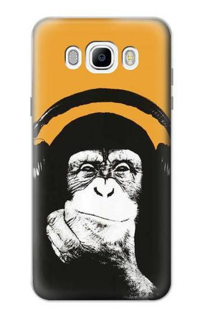 S2324 Funny Monkey with Headphone Pop Music Case For Samsung Galaxy J7 (2016)