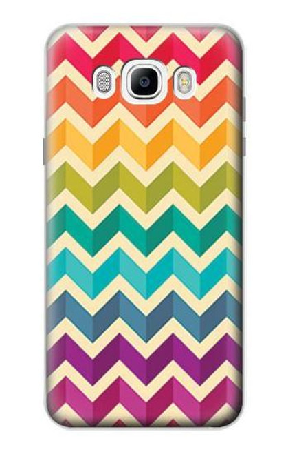 S2362 Rainbow Colorful Shavron Zig Zag Pattern Case For Samsung Galaxy J7 (2016)