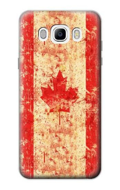 S2490 Canada Maple Leaf Flag Texture Case For Samsung Galaxy J7 (2016)