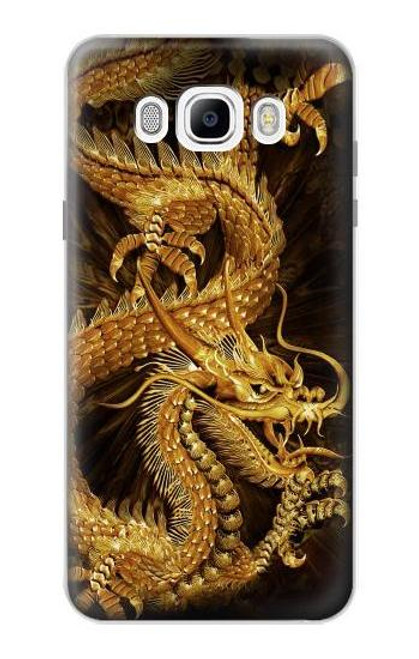 S2804 Chinese Gold Dragon Printed Case For Samsung Galaxy J7 (2016)