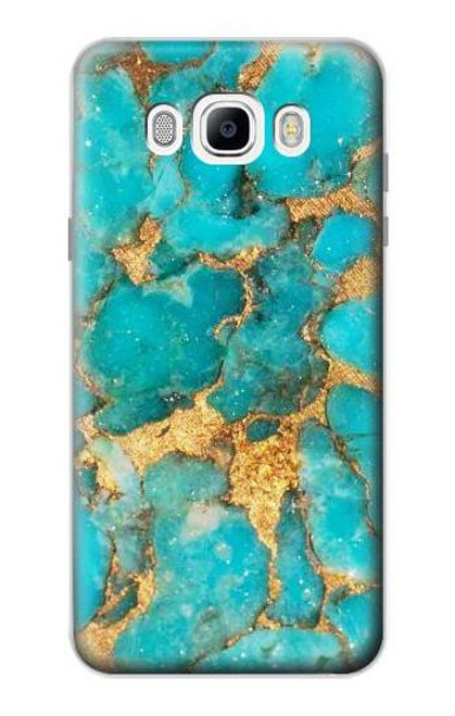 S2906 Aqua Turquoise Stone Case For Samsung Galaxy J7 (2016)