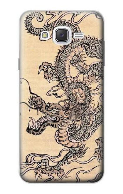 S0318 Antique Dragon Case For Samsung Galaxy J7