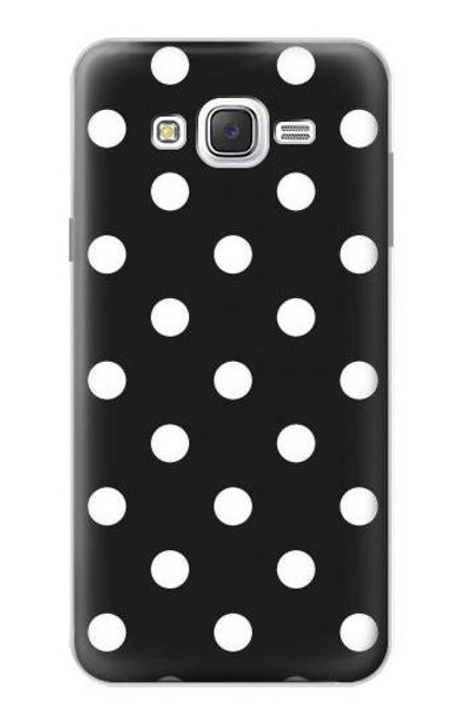 S2299 Black Polka Dots Case For Samsung Galaxy J7
