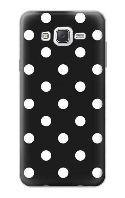 S2299 Black Polka Dots Case For Samsung Galaxy J7