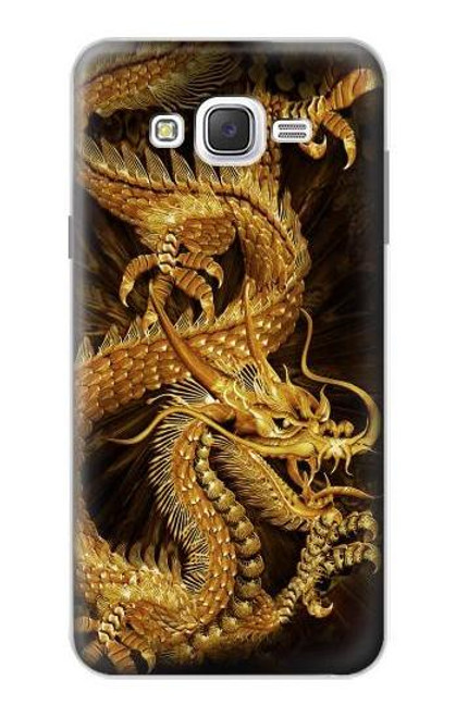 S2804 Chinese Gold Dragon Printed Case For Samsung Galaxy J7