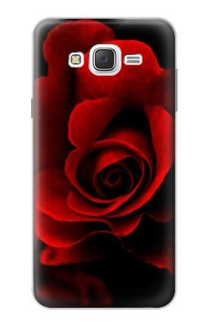 S2898 Red Rose Case For Samsung Galaxy J7