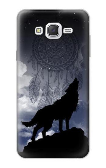 S3011 Dream Catcher Wolf Howling Case For Samsung Galaxy J7