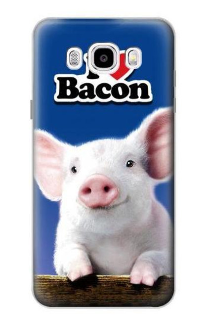 S0608 I Love Bacon Cute Baby Pig Case For Samsung Galaxy J5 (2016)