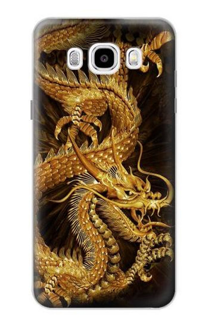 S2804 Chinese Gold Dragon Printed Case For Samsung Galaxy J5 (2016)
