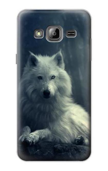 S1516 White Wolf Case For Samsung Galaxy J3 (2016)