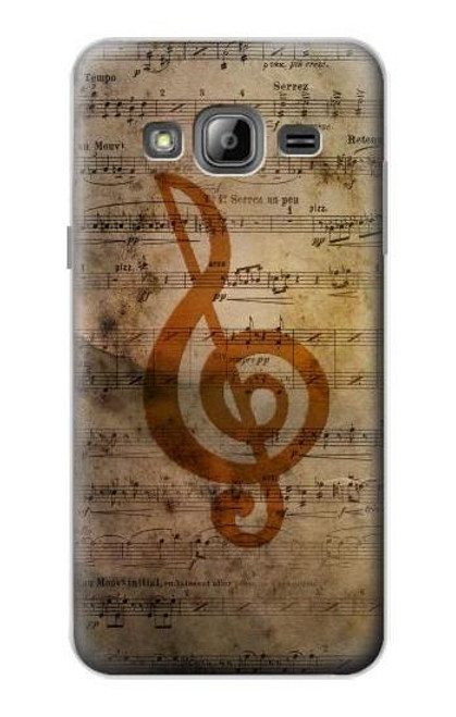 S2368 Sheet Music Notes Case For Samsung Galaxy J3 (2016)