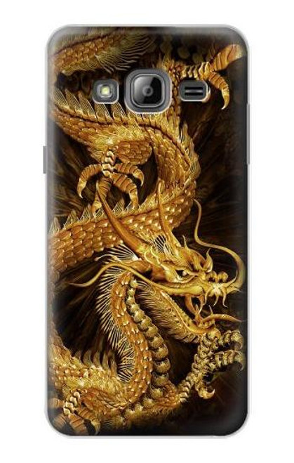 S2804 Chinese Gold Dragon Printed Case For Samsung Galaxy J3 (2016)
