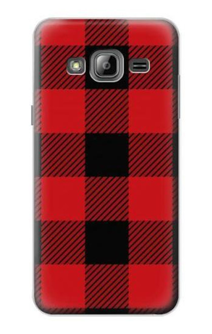 S2931 Red Buffalo Check Pattern Case For Samsung Galaxy J3 (2016)