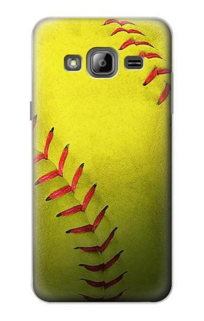 S3031 Yellow Softball Ball Case For Samsung Galaxy J3 (2016)