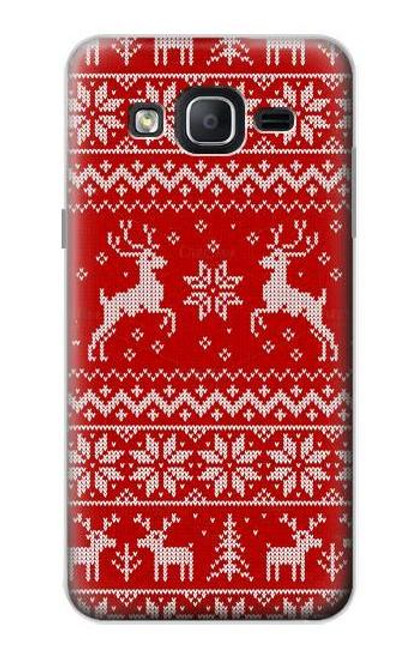 S2835 Christmas Reindeer Knitted Pattern Case For Samsung Galaxy On5