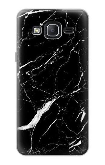S2895 Black Marble Graphic Printed Case For Samsung Galaxy On5