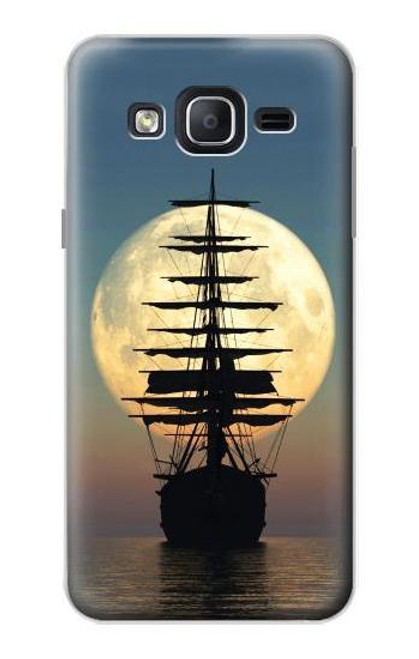 S2897 Pirate Ship Moon Night Case For Samsung Galaxy On5
