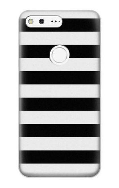 S1596 Black and White Striped Case For Google Pixel XL
