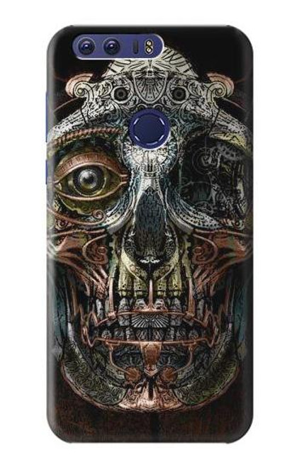 S1685 Steampunk Skull Head Case For Huawei Honor 8