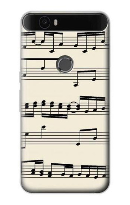 S3082 Music Sheet Case For Huawei Nexus 6P