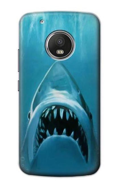 S0830 White Shark Case For Motorola Moto G5 Plus