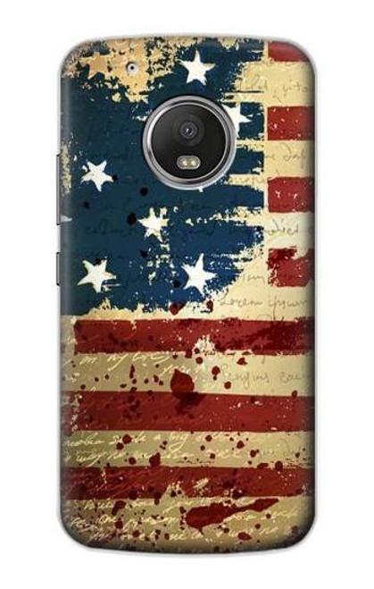 S2349 Old American Flag Case For Motorola Moto G5 Plus