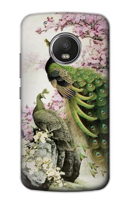 S2773 Peacock Chinese Brush Painting Case For Motorola Moto G5 Plus