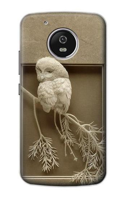 S1386 Paper Sculpture Owl Case For Motorola Moto G5