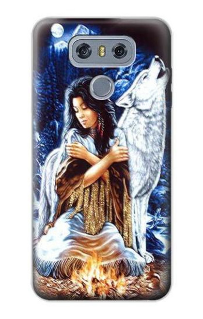 S0147 Grim Wolf Indian Girl Case For LG G6
