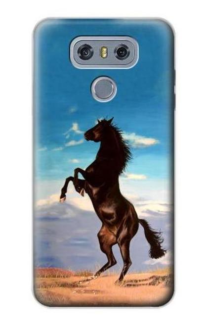 S0934 Wild Black Horse Case For LG G6