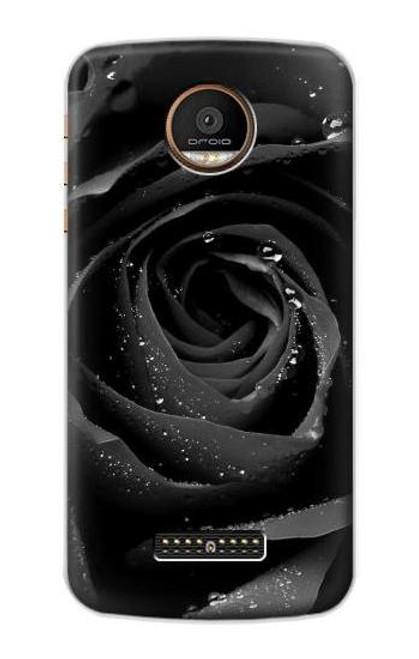 S1598 Black Rose Case For Motorola Moto Z Force, Z Play