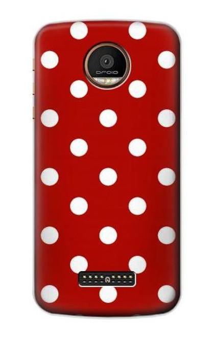 S2951 Red Polka Dots Case For Motorola Moto Z Force, Z Play