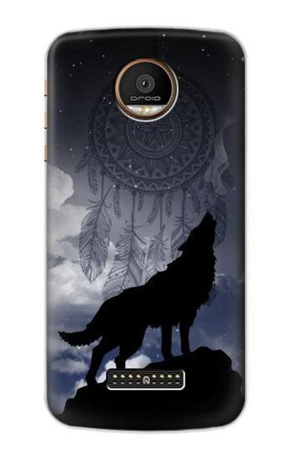 S3011 Dream Catcher Wolf Howling Case For Motorola Moto Z Force, Z Play