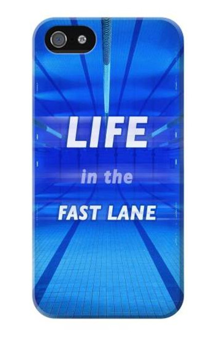 S3136 Life in the Fast Lane Swimming Pool Case For iPhone 5 5S SE