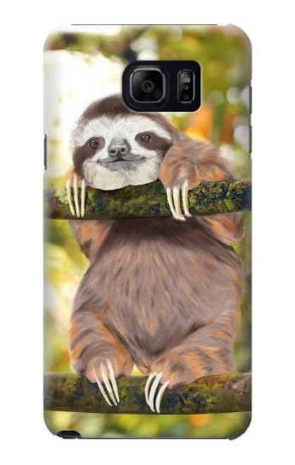 S3138 Cute Baby Sloth Paint Case For Samsung Galaxy S6 Edge Plus