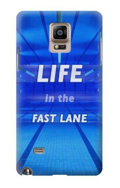 S3136 Life in the Fast Lane Swimming Pool Case For Samsung Galaxy Note 4
