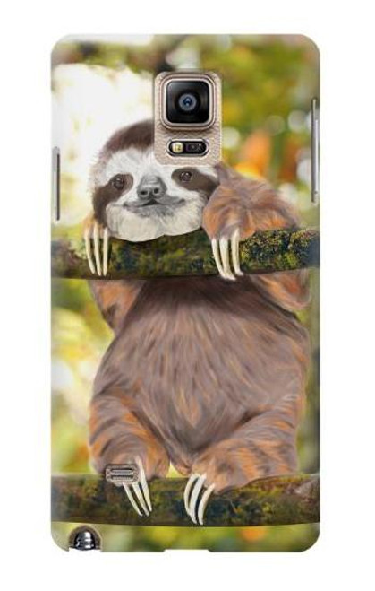 S3138 Cute Baby Sloth Paint Case For Samsung Galaxy Note 4