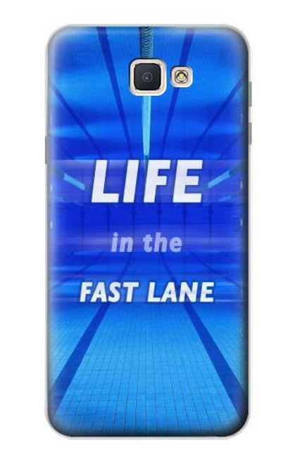 S3136 Life in the Fast Lane Swimming Pool Case For Samsung Galaxy J7 Prime