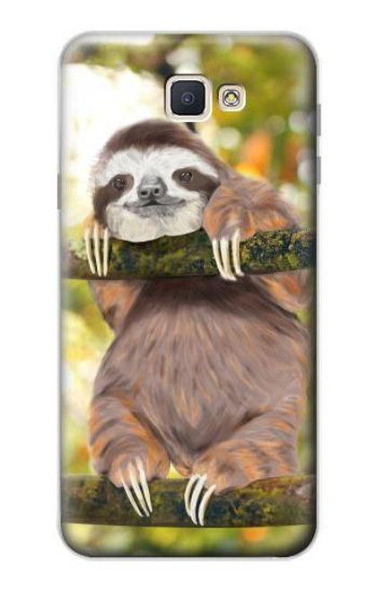 S3138 Cute Baby Sloth Paint Case For Samsung Galaxy J7 Prime