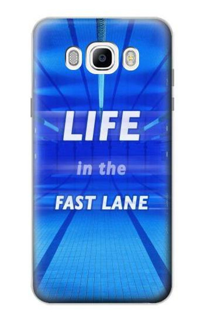 S3136 Life in the Fast Lane Swimming Pool Case For Samsung Galaxy J7 (2016)