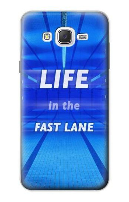 S3136 Life in the Fast Lane Swimming Pool Case For Samsung Galaxy J7